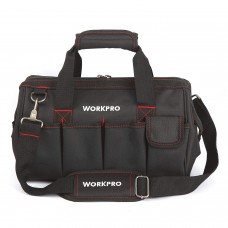 WORKPRO 14-inch Wide Mouth Tool Bag - Black