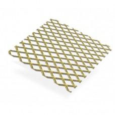 Gold Anodised Aluminium Grill 10 x 5.5mm Aperture | 500mm x 250mm x 0.8mm