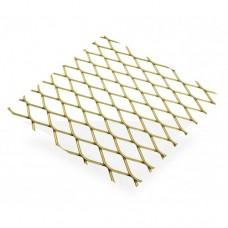 Gold Anodised Aluminium Grill 16 x 8mm Aperture | 500mm x 250mm x 0.8mm