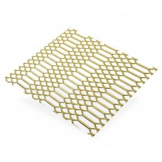 Gold Anodised Aluminium Mesh | 500mm x 250mm x 0.8mm
