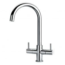 Labello Verona Dual Level Mono Mixer Kitchen Tap Chrome