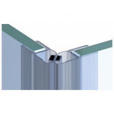 45° Angle Magnetic Sealing Strip For Shower Enclosures - Left