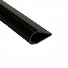 PVC Plastic Leaf/Slide Binder Black | 15mm x 1m