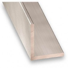 Anodised Aluminium Equal Angle (Stainless Steel Effect) | 30mm x 1.5mm x 1m
