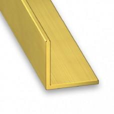 Brass Equal Angle | 8mm x 0.8mm x 1m