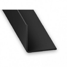 PVC Equal Angle Black | 15mm x 1mm x 1m
