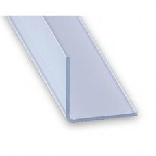 Clear PVC Equal Angle Corner Protection Trim | 25mm x 1mm x 1m