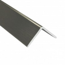 Stainless Steel Effect PVC Equal Angle Trim | 20mm x 20mm x 2m