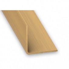PVC Equal Angle Oak Effect | 20mm x 1.5mm x 1m