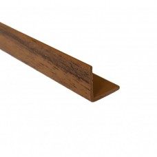 PVC Equal Angle Walnut Effect | 10mm x 1.5mm x 1m