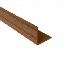 PVC Equal Angle Walnut Effect | 20mm x 1.5mm x 1m