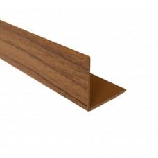 PVC Equal Angle Walnut Effect | 30mm x 1.5mm x 2m