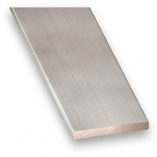 Anodised Aluminium Flat Bar (Stainless Steel Effect) | 25mm x 2mm x 1m
