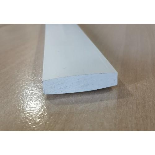 PVC Plastic Rigid Flat Bar Edging White 25mm x 5mm x 1m