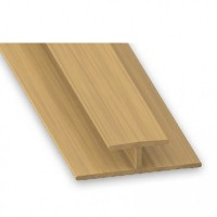 PVC Joining Trim Oak Effect | 22mm x 11mm x 1m