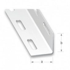 Cold Pressed Steel White Perforated Angle | 27mm x 1.35mm x 1m