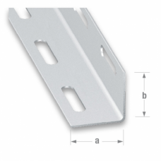 Galvanised Cold Pressed Steel Perforated Angle | 27mm x 1.35mm x 1m