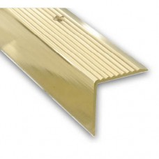 Gold Anodised Aluminium Step Edging Strip | 45mm x 23mm x 2m