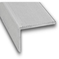 Raw Aluminium Stair Nosing | 45mm x 23mm x 1m