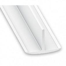 PVC Plastic T Section White | 25mm x 18mm x 1m