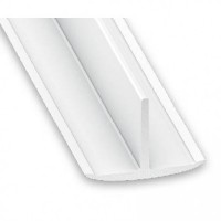 PVC Plastic T Section White | 25mm x 18mm x 2m