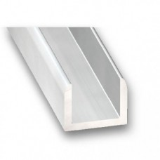 Anodised Aluminium Channel | 15mm x 1.5mm x 1m