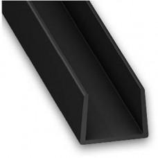 PVC Plastic Channel Black   14mm x 10mm x 2m