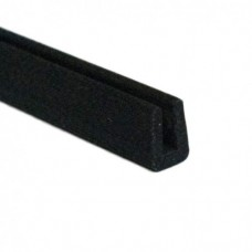 Black PVC Small U Channel | 4mm x 1mm x 1m