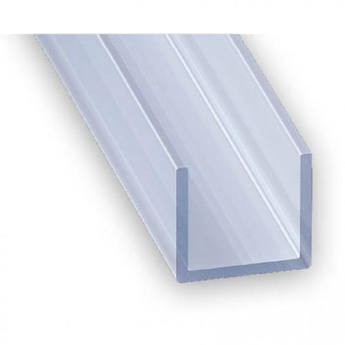 Pvc Plastic Channel Clear Transparent 12mm X 10mm X 2m