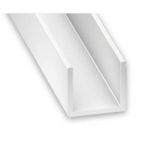 pvc plastic channel white 12mm x 10mm x 1m. Black Bedroom Furniture Sets. Home Design Ideas