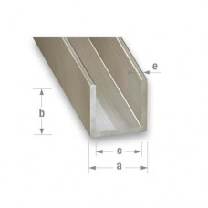 Stainless Steel 304L Grade Channel | 10mm x 15mm x 1mm x 1m