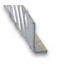 Raw Aluminium Checker Plate Unequal Angle   25mm x 40mm x 1m