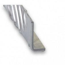 Raw Aluminium Checker Plate Unequal Angle   30mm x 50mm x 2m