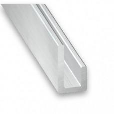 Raw Aluminium Unequal U Channel | 20mm x 10mm x 1m
