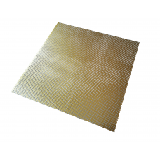 Gold Anodised Aluminium Clover Perforated Panel | 500mm x 500mm x 0.5mm