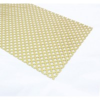 Gold Anodised Aluminium Perforated Panel | 250mm x 500mm x 1mm