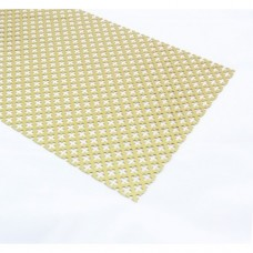 Gold Anodised Aluminium Perforated Panel | 500mm x 500mm x 1mm