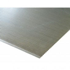 Round Perforated Anodised Aluminium Sheet Ø 1mm | 500mm x 500mm x 1mm