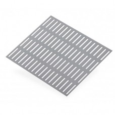 Slotted Perforated Anodised Aluminium Sheet | 500mm x 500mm x 1mm