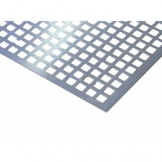 Square Perforated Anodised Aluminium 10 x 10mm | 500mm x 250mm x 1mm