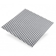 Round Perforated Steel Sheet Ø 8mm | 500mm x 250mm x 1mm