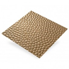 Hammered Pattern Anodised Aluminium | 500mm x 500mm x 0.4mm