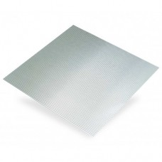 Micro Corrugated Anodised Aluminium Sheet | 500mm x 250mm x 0.5mm