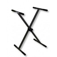Single Cross X-Frame 70kg Adjustable Trestle Stand in Black
