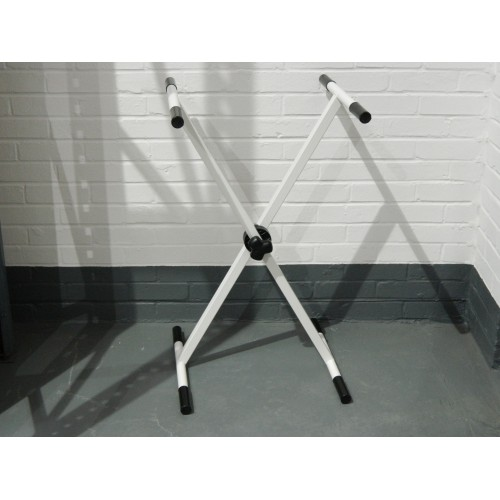 Single Cross X-Frame 70kg Adjustable Trestle Stand in White