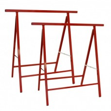 Folding 200kg Builders Trestles 800 x 765 mm (Pair) in Red