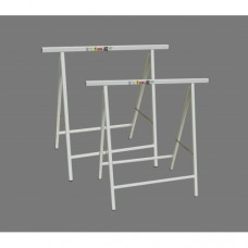 Folding 200kg Builders Trestles 800 x 765 mm (Pair) in White